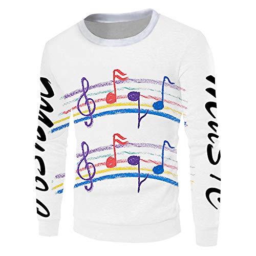 Ai Ya-weiyi 3D Printed Note Musicale De Couleur Pull Homme Belle Big Size Men's Sweater Fournisseurs Qui Vendent des Vêtements