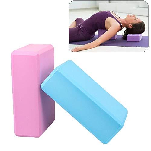 RONTENO Eva Form Yoga Brick Block for Balance & Support - 2pcs (Assorted Color)