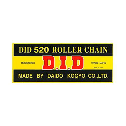 DID Kette 520 DID, 120 Glieder (Standard), offen mit Clipschloss