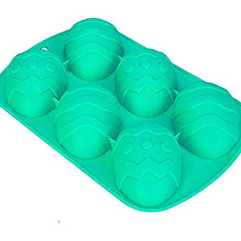 Silicone Easter Egg Baking Mould - Cake Bun Cupcake Chocolate Decorating (Blue)