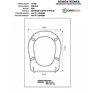 Toilet County AXA White Zip Chrome