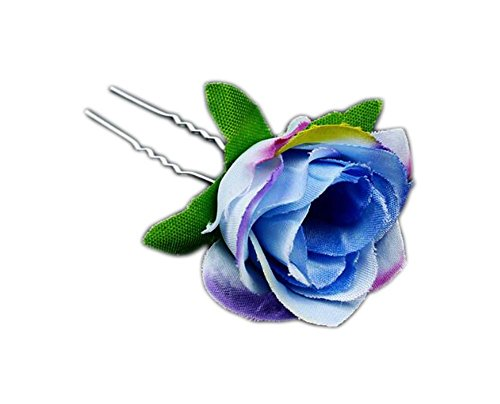 Fleur Design Hair Stick Pin Clip pour les cheveux longs Set de 6 # 05