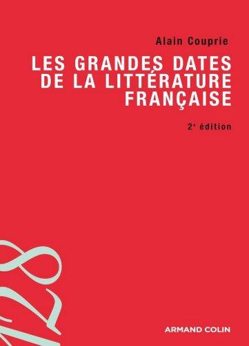 Ebook rapidshare deutsch télécharger Les grandes dates de la littérature française (Lettres) PDF