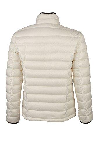 James & Nicholson Herren Jacke Daunenjacke Men's Quilted Down Jacket Off-White/Black