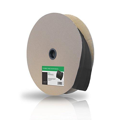Pure PM - supporti SOCKS-85B universale -50 poliestere-cavi (chiusura in velcro, 85 mm, Lunghezza: 50 m rotolo) Nero