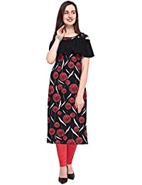 b30de02268 Bhojalram Creation Black Color Digital Printed Crepe Fabric Used Fancy Kurti's  for Women's