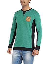 Indian Polo Men's Cotton T-Shirt (DTS123--L, Green, Large)