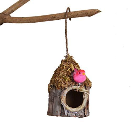 Tlwrnop Nistkästen Vogelkäfige Simulation Rinde Kleine Vogelnest Nest Papagei Vogelhaus Garten Pflanze Zubehör Startseite Natur Ornamente Vogel Haustierkäfig Haus @ Oa0403B