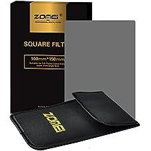 ZOMEi 100x150mm ND4 Z-PRO Serie Filtro Cuadrado Completa Filtro de Densidad Neutra Gray Compatibles con el Sostenedor de Cokin Z Lee Hitech '4X6'