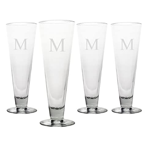 Cathy's Concepts Personalized Classic Pilsners, Set of 4, Letter
