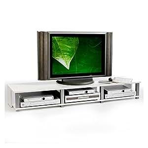 IDIMEX TV-Möbel Lowboard Fernsehtisch TV-Tisch TV-Element KIMI, weiß foliert