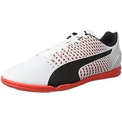 Puma Adreno III It, Zapatillas de Fútbol Para Hombre, Blanco (White-Black-Fiery Coral), 40 EU