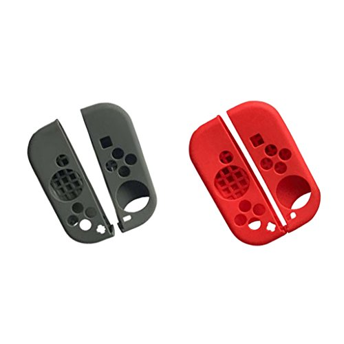 Segolike 2x Gel Rubber Case Flexible for Nintendo Switch JoyCon Controller Grip Cover