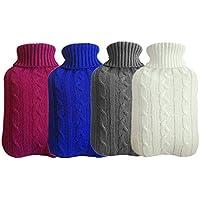 Yakefj Classic Gummi-Wärmflasche, transparent, 2 Liter mit Strickbezug (nur 01-4 Stück) preisvergleich bei billige-tabletten.eu