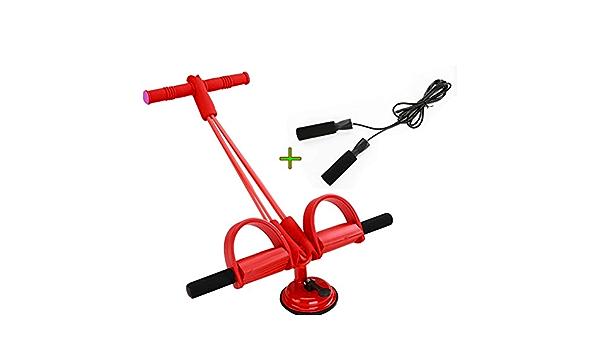 WLWWCX Multifunktions-spannseil 4-Rohr-fu/ßpedal Elastisches Zugseil Sit-up-Bodybuilding-Expander Sit-up-zugseil Federspannungs-fu/ßpedal F/ür Frauen M/änner Fitness-artefakt-Pedal-kn/öchelabzieher