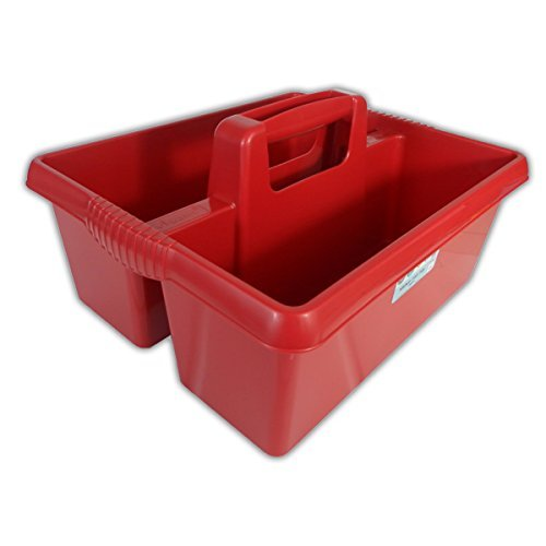 Wham Colourful Plastic Handy Kitchen Cleaning Tool Utility Caddy Storage Tidy (Chilli Red) by Wham - Tool Caddy