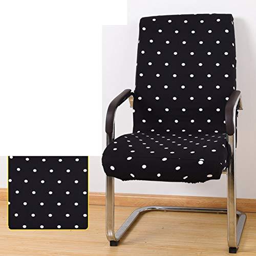 Sishe Stuhl Silpcover Stuhlabdeckungen für Bürocomputer Chefsesselabdeckung Armlehnensitzüberzüge Stoffhocker Einteilige Spandexstuhlüberzüge-W by (Farbe : W)