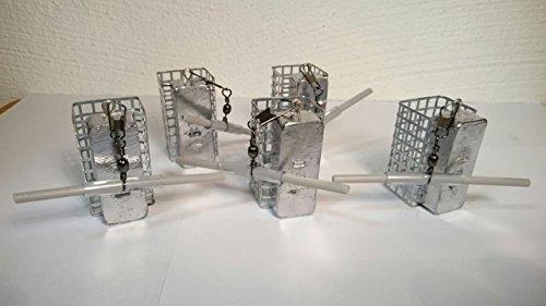 5x150g Futterkörbe mit Anti Tangle von SPRO Futterkorb Angelblei Handarbeit