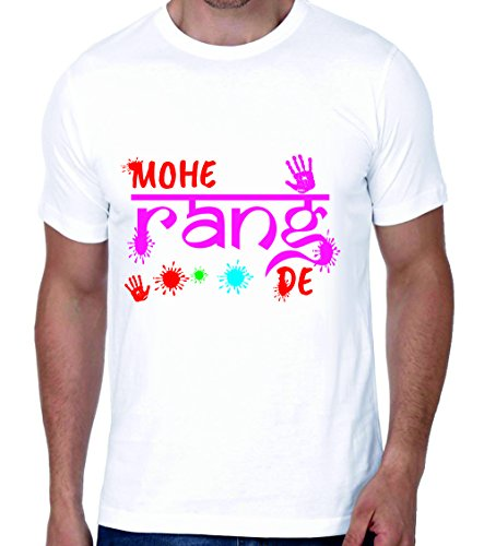 Crazy Sutra Half Sleeve Casual Printed Tshirt |Funky Holi Festival Special Tshirts [T-MOHERANGDE_M]