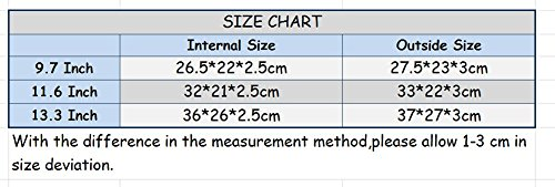 YiJee 11-15.4 Pollici Denim Borsa per Computer Portatile /Macbook Air Pro Retina 15.4 Inch Blu