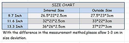 YiJee 11-15.4 Pollici Denim Borsa per Computer Portatile /Macbook Air Pro Retina 12 Inch Grigio