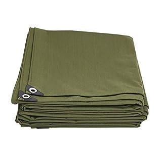 Unbekannt Z-P Zelt Plane aus dickem Segeltuch aus Polyethylen, außen wasserabweisend, leicht zu Falten, 600 g/m², Dicke 0,7 mm, Armee-Grün, Code 10, 2 x 2m