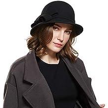 Haimeikang Donna Elegante Cloche Cappello Benna Morbida Maglia in Lana  Slouch Rugosa Beanie cap Colore Solido 4d53f8f82ac5