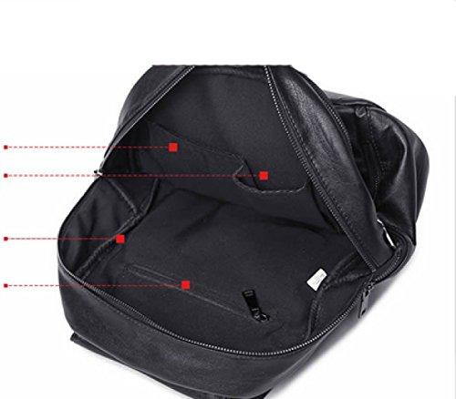 LAIDAYE Mode Freizeit Rucksack-PU-Schultern Black