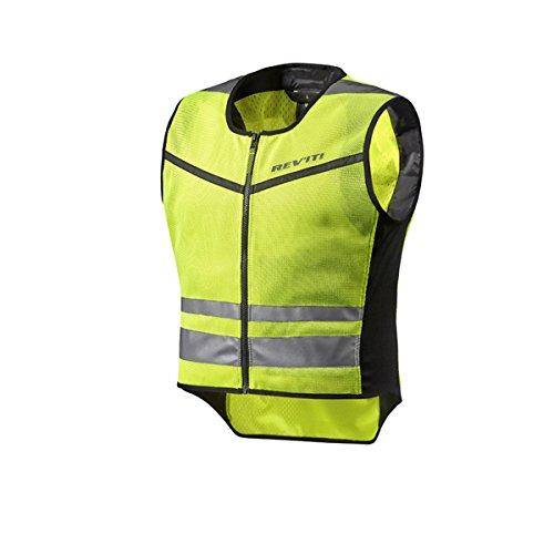REV'IT! ATHOS AIR 2 Motorrad Sicherheitsweste/Warnweste - neon gelb Größe M Motorrad Safety Jacket