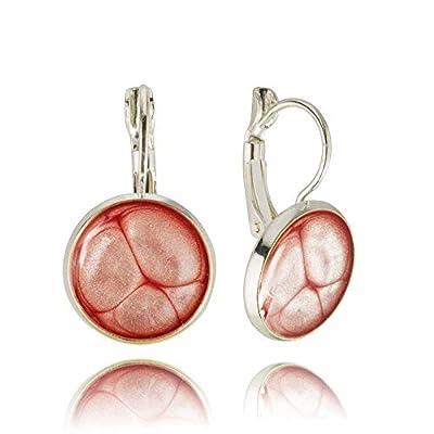 Boucles D'oreilles Rose Rose Dangle Pour Fille Dans La Boîte Cadeau