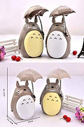 LOSDE [2 unidades] Totoro Anime luz nocturna LED para niños, carga USB, HG1025-S201 lámpara de lectura para mesa de escritorio