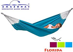 Amazonas hamac xL ****fLORIDA aQUA double hamac, coloris xL 120 x 210 cm