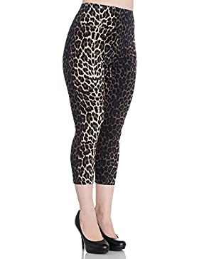 Pantalon legging capri leopardo Panthera animal print 5453 Hell Bunny (M)