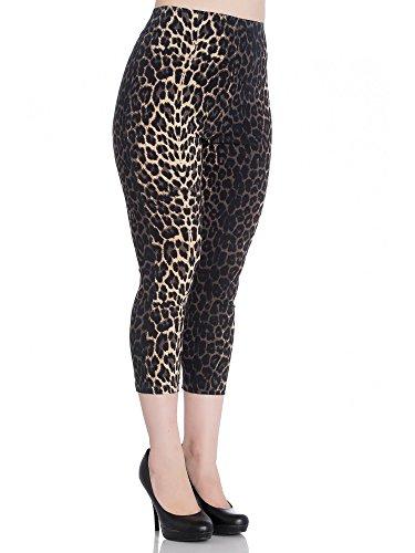 Pantalon legging capri leopardo Panthera animal print 5453 Hell...