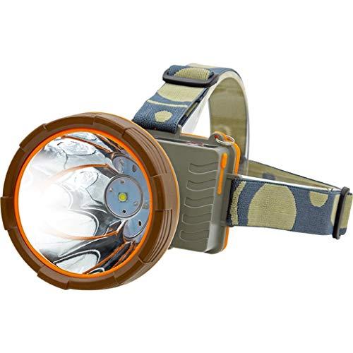 Continuous LED Stirnlampe, Ergonomie Multifunktion USB Suchscheinwerfer Einstellbar Taschenlampe Wasserdicht Laterne Nachtfischen Xenon Lampe Long Service Life (Farbe : Weißes Licht)