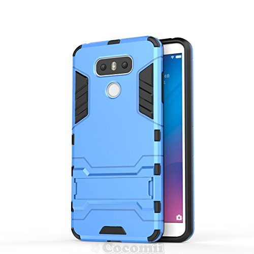 LG G6 Hülle, Cocomii Iron Man Armor NEW [Heavy Duty] Premium Tactical Grip Kickstand Shockproof Hard Bumper Shell [Military Defender] Full Body Dual Layer Rugged Cover Case SchutzhülleH870 H871 H872 H873 H870K LS993 US997 VS988 (Blue) (Cricket-smartphones Galaxy)