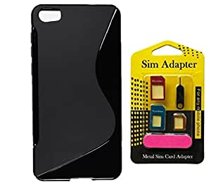 Nokia C1, Wellmart Back Case Cover Combo Offer For Nokia C1 + Metal Sim Card Adapter (Super Saver)
