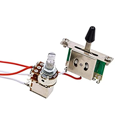 41WQyItkNbL. SS416  - SeaStart- Kit de cableado de guitarra eléctrica (1 volumen, 1 tonelada, 3 interruptor, 500 K, 1 juego de toma de potenciómetro)