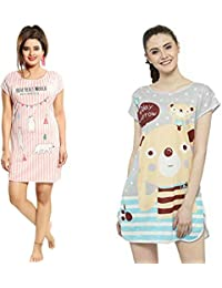 ICW Women s Nightwear Top (Free Size Medium to XXL) High Stretchable Non  Transparent Fit 7b3ad6c85