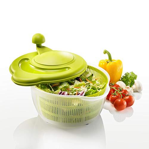Westmark 2432226a centrifuga per insalata, in polipropilene, dimensioni: 29 x 25,2 x 21,5 cm, capienza: 5,0 l, colore: verde/bianco