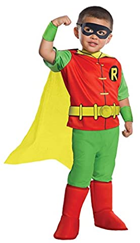 Red Robin Costume Dc - DC Comics Robin Deluxe Toddler Costume