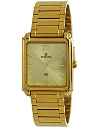 Maxima Analog Gold Dial Men's Watch-40072CMGY