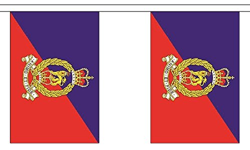 British Army-Army-Marabu General Corps Polyester Flagge Wimpelkette 9m (30') Wimpelkette mit 30Flaggen