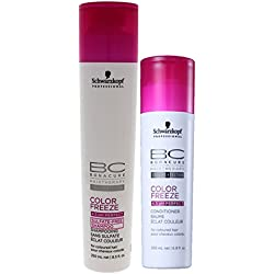 Schwarzkopf Professional BC color Freeze Sulfate Free Shampoo + Conditioner - 450ml (Combo)