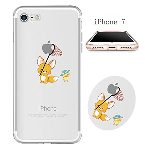 Cover iPhone 6 Plus Custodia telefono creativo trasparente silicone Guscio morbido Anti Graffio Copertura protettiva Anti-polvere paraurti Si applica a iPhone 6/6S Plus(5.5) disegno-11