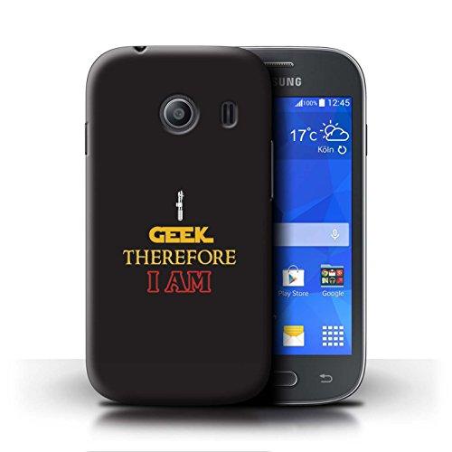 Stuff4® Hülle/Case für Samsung Galaxy Ace Style/Ich Bin Geek Muster/Aussenseiter Nerdy Spieler Kollektion