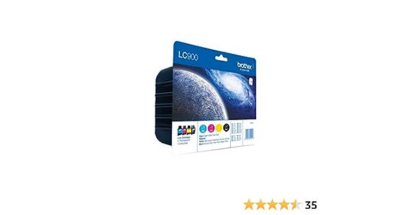 Brother Tintenpatronen Value Pack Viererpack Farbe Cyan Gelb Magenta Schwarz Für Lc900 Bürobedarf Schreibwaren