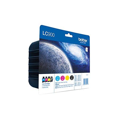 Brother Tintenpatronen Value Pack (Viererpack, Farbe: cyan / gelb / magenta / schwarz) für Lc900