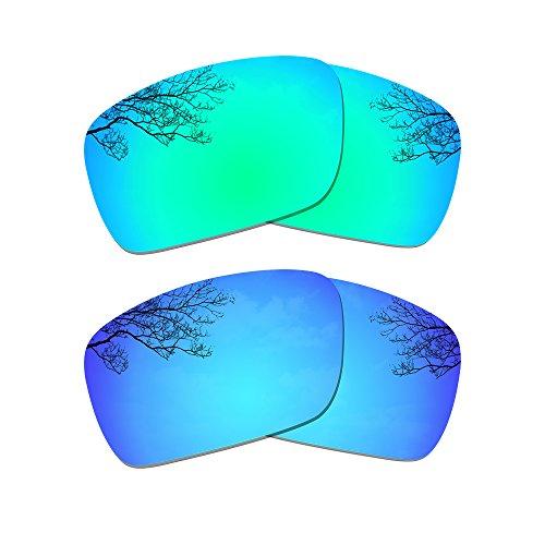 Dynamix polarisierte Ersatzgläser für Oakley Fuel Cell - Mehrfachoption (Smaragdgrün + Eisblau)