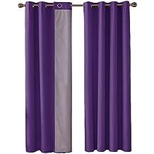 Amazon.fr : rideaux salon violet - Deconovo